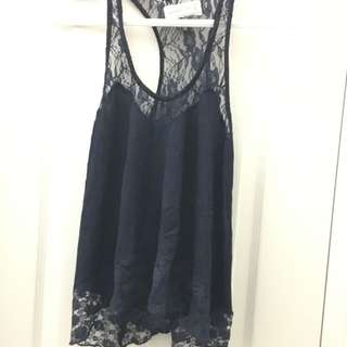 Abercrombie & Fitch Lace Tank XS / small NWOT