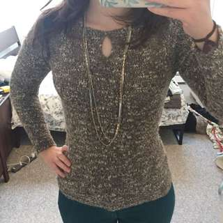 Brown Gold Wool Sweater