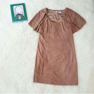 Cape Choco Dress (Free Ongkir Jabodetabek)