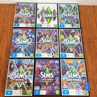 The Sims 3 Base Game & Expansion Packs