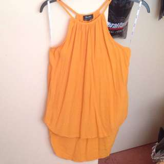 Bardot Orange Summer Top Sz 10