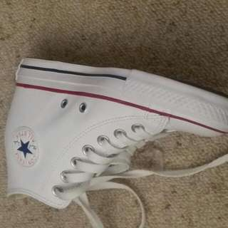 Leather Converse Wedge
