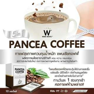 [SACHET] Pancea Coffee Instant Coffee Mix Weight Loss By. Wink White 100% Original Thailand