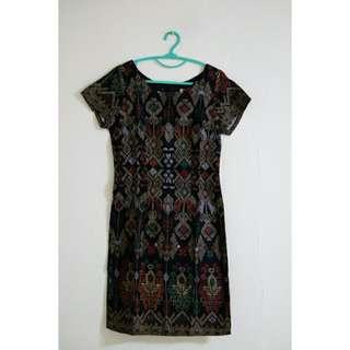Chevia Dress Motif Ikat