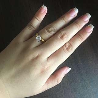 Stainless Diamond Ring