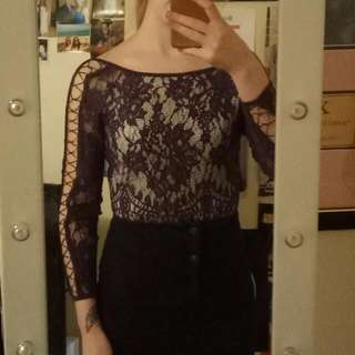 Purple Lace Bodysuit