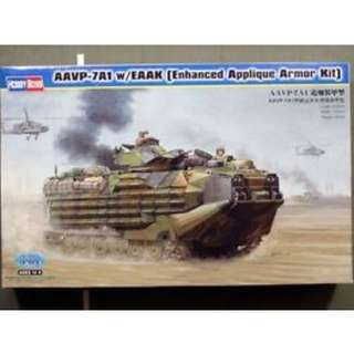 Brand New** HobbyBoss 1/35 - AAVP-7A1 w/EAAK (Enhanced Appliqué Armor Kit) Model Kit