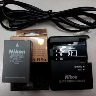 Battery And Charger Nikon EN-EL9A/MH-23