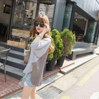 FA16783夏裝新款時尚休閑寬鬆後背大版T恤