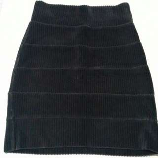 Office Corduroy Pencil Skirt