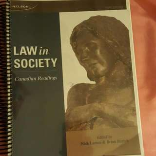 Law In Society Canadian Readings
