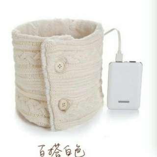 電暖圍巾+行動電源組
