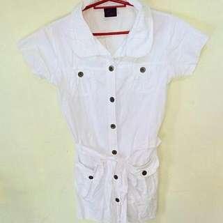 White Polo Dress 👗