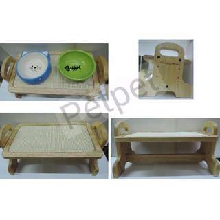 Petpet - DoggyMart 木質寵物餐桌 (P0070)