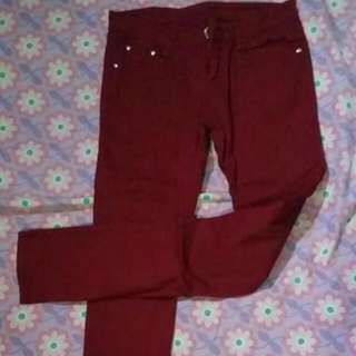 Maroon Colored Pants