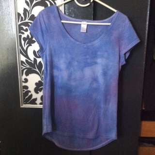 Hand Dyed Purple Tee Shirt