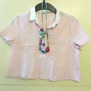 Zara Pink Cropped Top