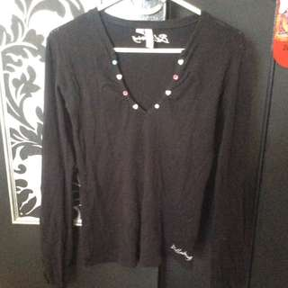 Size 12 Billabong Black Long Sleeve