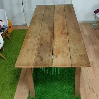 Handmade Solid Wooden Table