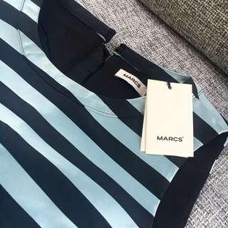 Marcs Duchess Strip Crop Top
