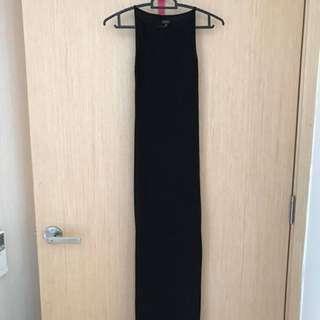 Long Black See Through Evening Dress