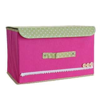 ※日系商品※經典簡易收納盒 (粉紅色)