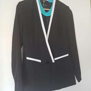 Black Formal Treny Look Blazer & Jacket