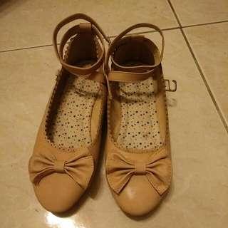 🌸日系 森林系 蝴蝶結鞋 綁帶