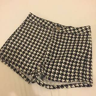 Forever21 Houndstooth High Waist Shorts