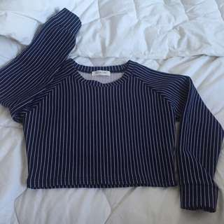 3.3 Filed Trip crop Top Stripes