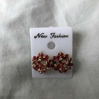 Red Ear Rings From Taiwan