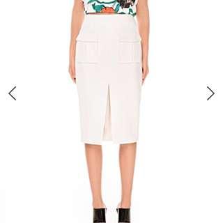 Cameo Collective White Pencil Skirt