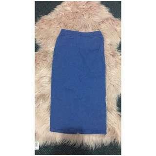 Medium Blue Pencil Skirt