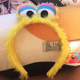 Japanese Rare Sesame Street Headband Yellow Monster Cute