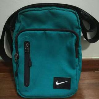 Nike blue green sling bag