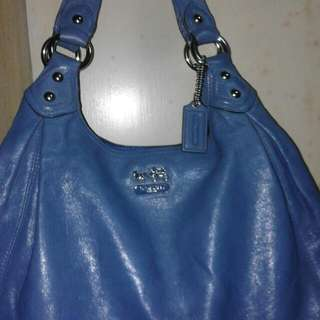Authentic Signiture Bag Coach Blue