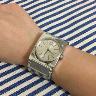 ck Epitome 廣告款方形腕錶