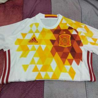 Gently Used 2x Authentic Spain Euro 2016 Kit Away Sz  S