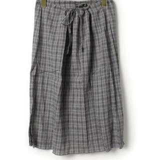 agnes b. 格紋長裙 裙子