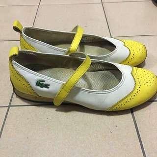 🚚 二手 休閒鞋絕版款 正品保證 Lacoste  真皮 亂賣