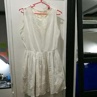 Jack Wills white dress with pockets