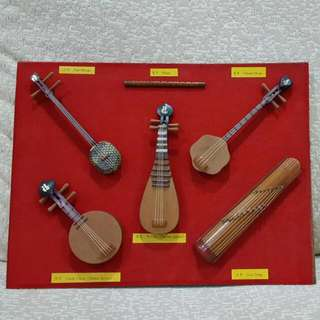 Miniature Chinese Orchestra Instruments