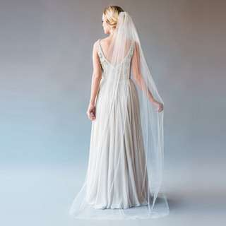 1tier Chapel Lenght Wedding Veil Made With Soft French Silk Tulle
