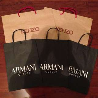 Armani/Kenzo提袋