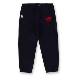 全新ROOTS 加拿大國慶款休閒棉褲-女版黑XS