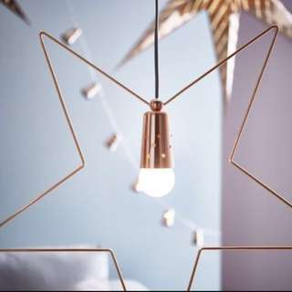 Ikea Strala Lights In Rose gold