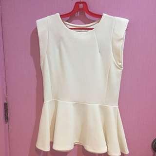 Bysi White Stylish Top