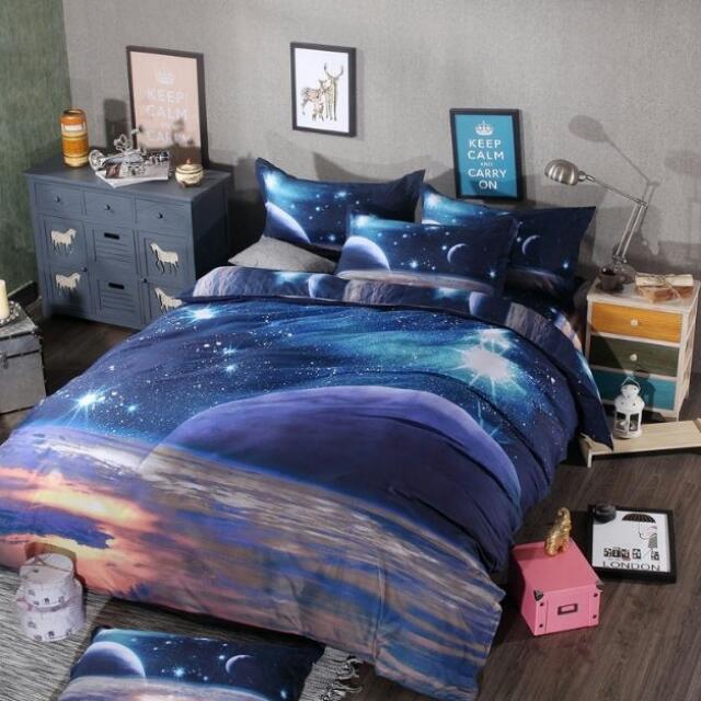超美超浪漫3D魔幻星空床包(六種款式)含運