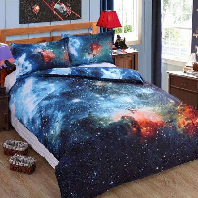 超美浪漫3D魔幻星空床包 (6種款式)含運