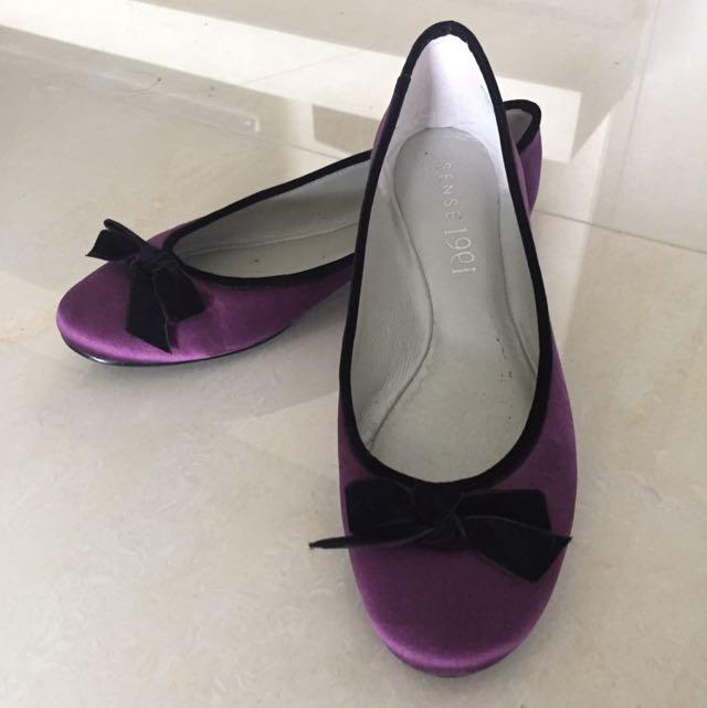 紫色緞面芭蕾舞鞋
